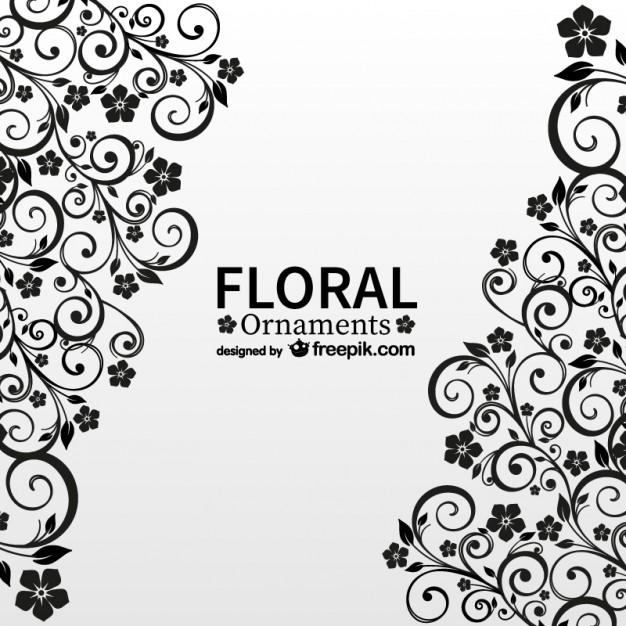 アンティーク花柄の自由ベクトルカード - freepik