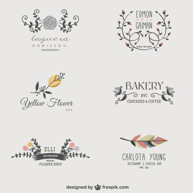 花のビジネスのロゴ - freepik