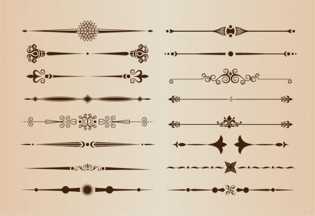ページ装飾の仕切りベクトル要素 - freepik