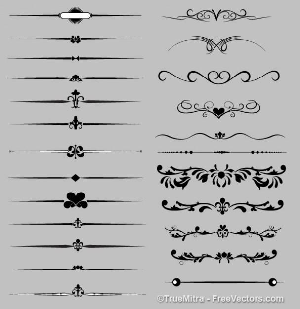エレガントな装飾はレトロコレクションのシルエット - freepik