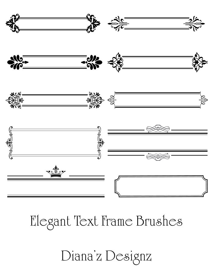 Elegant Text Frame Brushes - deviantART